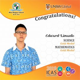 ICAS GOLD MEDALS 2019 -- Edward Limanto